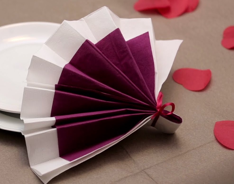 Pliage serviette tutos conseils astuces - Pliage de serviettes de table en papier ...